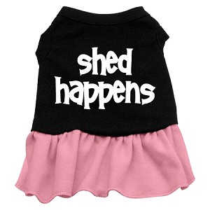 Shed Happens Screen Print Dress Black with Light Pink XXL (18)