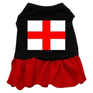 St. Georges Cross Screen Print Dress Black with Red Lg (14)