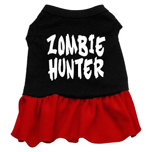 Zombie Hunter Screen Print Dress Black with Red XXL (18)