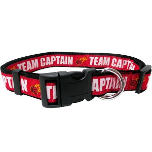 BasketBall Dog Collar Red Medium