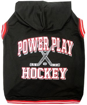 Hockey Hooded Pet Sweatshirt Black Small