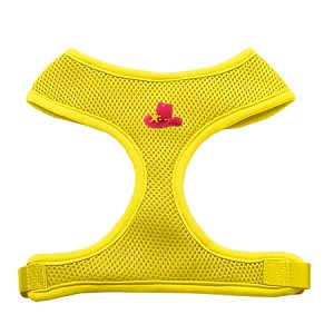 Pink Cowboy Hat Chipper Yellow Harness Small