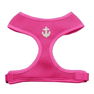 White Anchors Chipper Pink Harness Medium