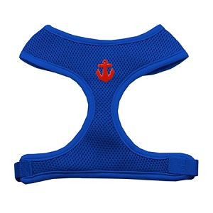 Red Anchors Chipper Blue Harness Large