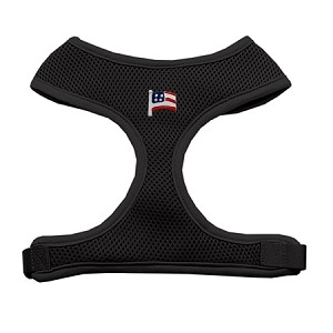 American Flag Chipper Black Harness Large