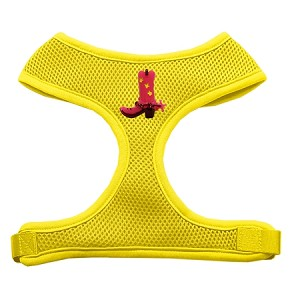 Pink Cowboy Boots Chipper Yellow Harness Medium
