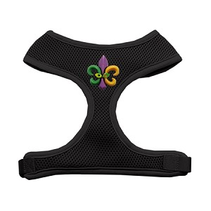 Mardi Gras Fleur de Lis Chipper Black Harness Medium