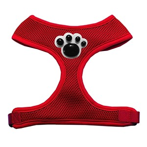 Black Paws Chipper Red Harness Large