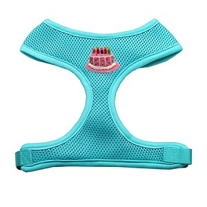 Pink Birthday Cake Chipper Aqua Harness Medium
