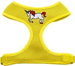 Unicorn Embroidered Soft Mesh Harness Yellow Small