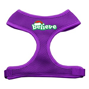 Believe Screen Print Soft Mesh Harnesses Purple Large