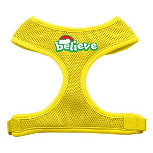 Believe Screen Print Soft Mesh Harnesses Yellow Small