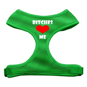 Bitches Love Me Soft Mesh Harnesses Emerald Green Extra Large