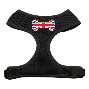 Bone Flag UK Screen Print Soft Mesh Harness Black Small