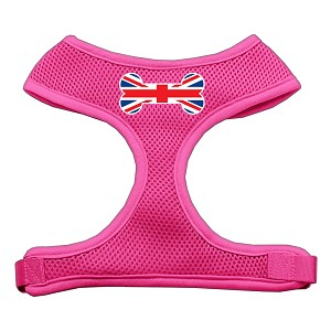 Bone Flag UK Screen Print Soft Mesh Harness Pink Medium