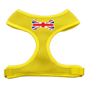 Bone Flag UK Screen Print Soft Mesh Harness Yellow Large