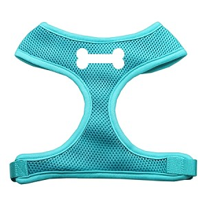 Bone Design Soft Mesh Harnesses Aqua Extra Large