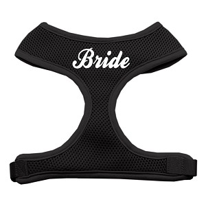 Bride Screen Print Soft Mesh Harness Black Extra Large