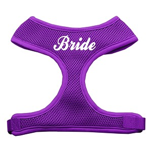 Bride Screen Print Soft Mesh Harness Purple Extra Large