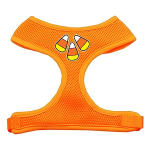 Candy Corn Design Soft Mesh Harnesses Orange Medium