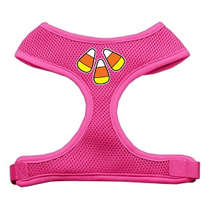 Candy Corn Design Soft Mesh Harnesses Pink Small