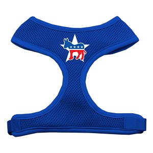 Democrat Screen Print Soft Mesh Harness Blue Extra Large