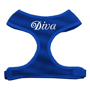 Diva Design Soft Mesh Harnesses Blue Extra Large