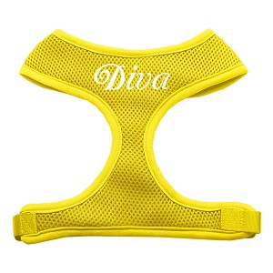 Diva Design Soft Mesh Harnesses Yellow Small