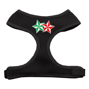 Double Holiday Star Screen Print Mesh Harness Black Small