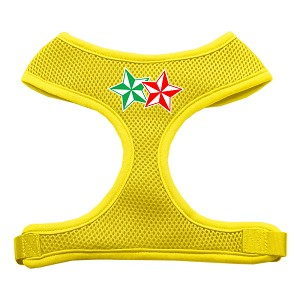 Double Holiday Star Screen Print Mesh Harness Yellow Small