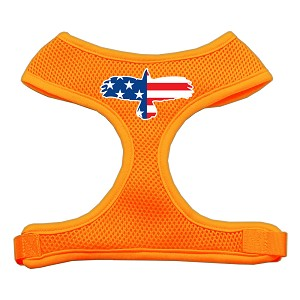 Eagle Flag Screen Print Soft Mesh Harness Orange Extra Large