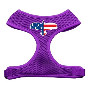 Eagle Flag Screen Print Soft Mesh Harness Purple Extra Large