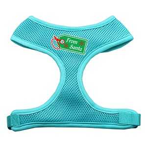 From Santa Tag Screen Print Mesh Harness Aqua Medium