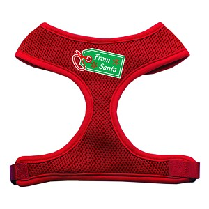 From Santa Tag Screen Print Mesh Harness Red Small