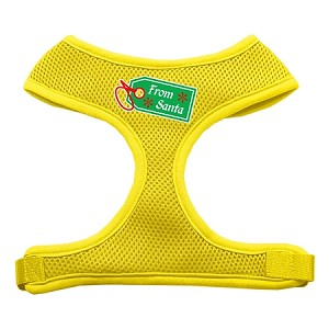 From Santa Tag Screen Print Mesh Harness Yellow Large