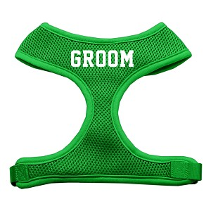 Groom Screen Print Soft Mesh Harness Emerald Green Medium