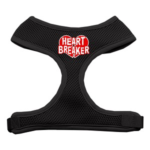 Heart Breaker Soft Mesh Harnesses Black Medium