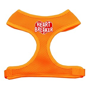Heart Breaker Soft Mesh Harnesses Orange Large