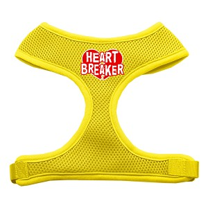 Heart Breaker Soft Mesh Harnesses Yellow Medium