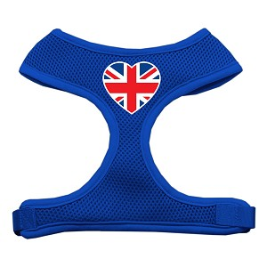 Heart Flag UK Screen Print Soft Mesh Harness Blue Extra Large