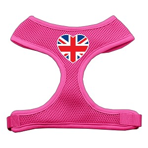 Heart Flag UK Screen Print Soft Mesh Harness Pink Medium
