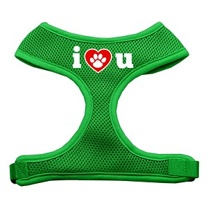 I Love U Soft Mesh Harnesses Emerald Green Extra Large