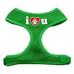 I Love U Soft Mesh Harnesses Emerald Green Small