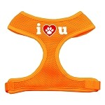 I Love U Soft Mesh Harnesses Orange Small