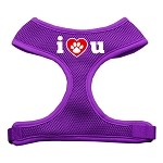 I Love U Soft Mesh Harnesses Purple Small