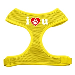 I Love U Soft Mesh Harnesses Yellow Extra Large
