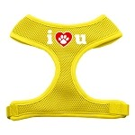 I Love U Soft Mesh Harnesses Yellow Small