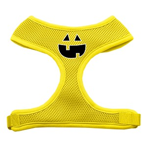Pumpkin Face Design Soft Mesh Harnesses Yellow Large