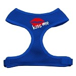 Kiss Me Soft Mesh Harnesses Blue Extra Large