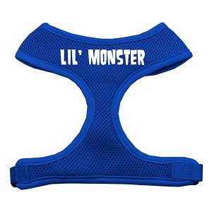 Lil' Monster Design Soft Mesh Harnesses Blue Small